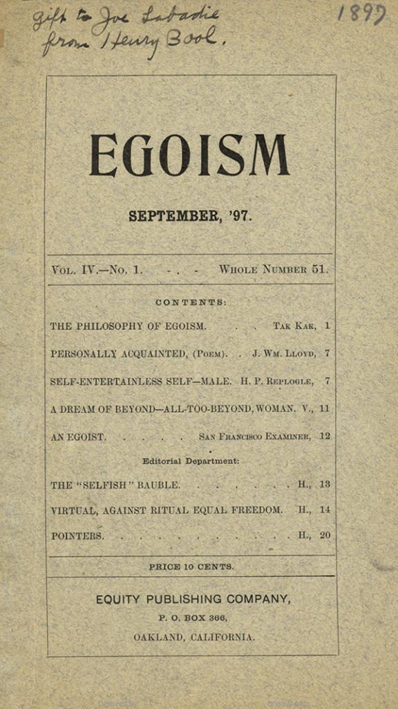 history of egoism